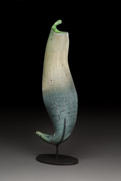 jade, grey & ochre pitcher