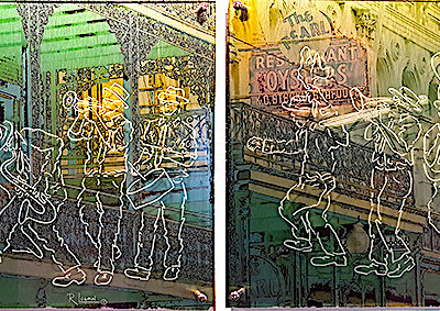 Second Line Diptych