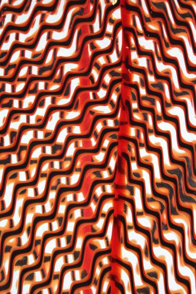 Zig Zag Red Leaf