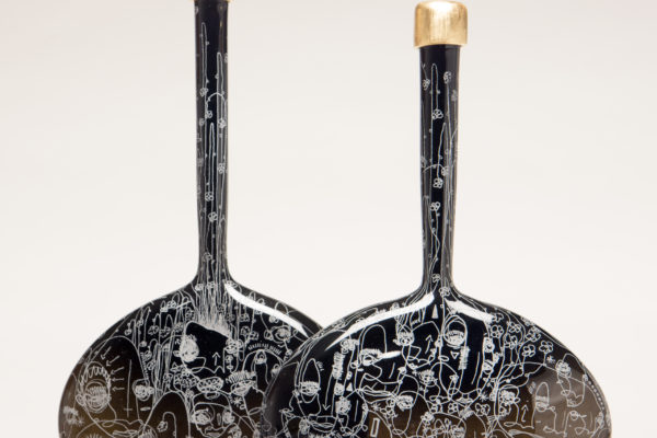 black gold bottles